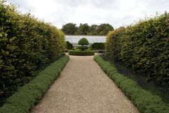 Arundel castle garden'a path in England Royalty Free Stock Image