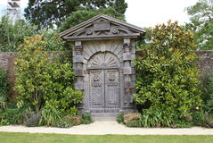 Arundel castle garden's timber gate in England Stock Image