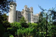 Arundel Castle. Gardens and facade at Arundel Castle, England Royalty Free Stock Photos