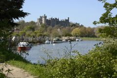 Arundel Castle and River Arun. Sussex. England Royalty Free Stock Photography