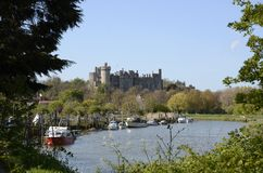 Arundel Castle and River. Sussex. England Stock Image