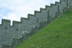 Arundel castle's castellated wall in England Royalty Free Stock Photography