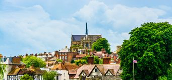 Arundel cathedral skyline royalty free stock photography