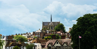 Arundel cathedral skyline Stock Photography