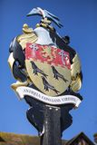 Arundel Coat of Arms in Sussex. The Coat of Arms of the town of Arundel in West Sussex, UK Stock Photography