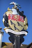 Arundel Coat of Arms in Sussex. The Coat of Arms of the town of Arundel in West Sussex, UK Stock Photos