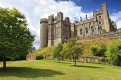 Arundel slott, Arundel, västra Sussex, England fotografering för bildbyråer