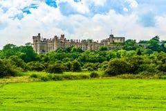 Arundel slott i västra Sussex, England, UK arkivbilder
