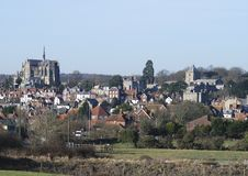 Arundel viewed from fields. Sussex.UK Stock Photo