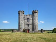 Hiorne tower in Arundel park stock images