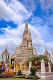 Arunratchawararam Temple is an important and ancient. Temple in Thailand royalty free stock image