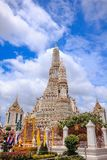 Arunratchawararam Temple is an important and ancient. Temple in Thailand stock images