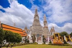 Arunratchawararam Temple is an important and ancient. Temple in Thailand stock photography