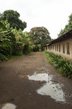 Arusha muddy street Royalty Free Stock Photography