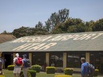 Arusha Tanzania flygplatsterminal Royaltyfri Foto