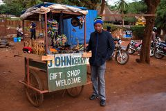 ARUSHA, TANZANIYA - CIRCA 2015: GIFT SHOP royalty free stock photography