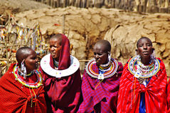Free ARUSHA, TZ - CIRCA AUGUST 2010 - Masai Village In Serengeti National Park. Stock Images - 76868134