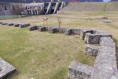 Arutela rzymski castrum zdjęcia royalty free