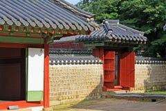 Arv för Korea UNESCOvärld - Jongmyo relikskrin arkivfoton