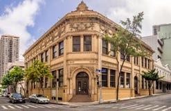 Arvbyggnader i kineskvarter i Honolulu, Hawaii royaltyfri fotografi