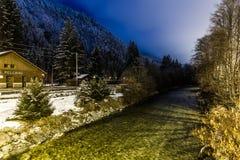 Arve River, Les Pelerins, France Royalty Free Stock Images
