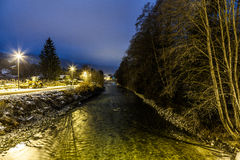 Arve River, Les Pelerins, France Stock Image