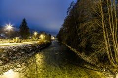 Arve River, Les Pelerins, France Stock Image