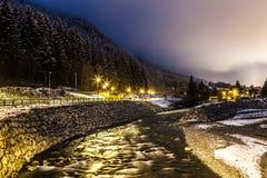 Arve River, Les Pelerins, France Royalty Free Stock Image
