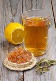 arvense filiżanki equisetum ostrości szklanej ziołowej horsetail infuzi naturopathy selekcyjna herbata Zdjęcie Stock