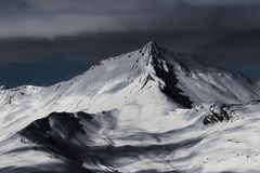 In Arves mountain range, in french Alps royalty free stock image