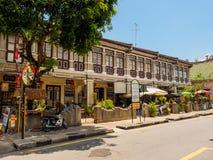 Arvhusen i den George staden, Penang, Malaysia arkivbild