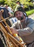 中世纪Leatherworker的画象 库存图片