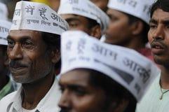 Arvind Kejriwal bei Sarnath, Indien Lizenzfreie Stockbilder