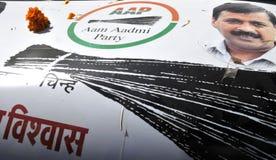 Arvind Kejriwal campaigning for Dr.Kumar Vishwas . Stock Images