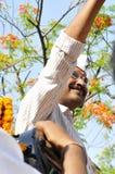 Arvind Kejriwal campaigning for Dr.Kumar Vishwas . Royalty Free Stock Photos