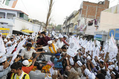 Arvind Kejriwal and Kumar vishwas during a political rally. Royalty Free Stock Photos