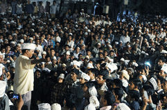 Arvind Kejriwal during a Nukkad Sabha. Royalty Free Stock Image