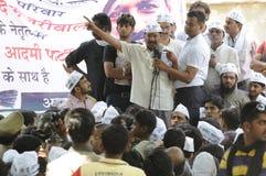 Arvind Kejriwal during a Nukkad Sabha. Stock Image
