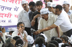 Arvind Kejriwal during a Nukkad Sabha. Stock Photography