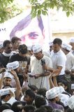 Arvind Kejriwal during a Nukkad Sabha. Stock Images