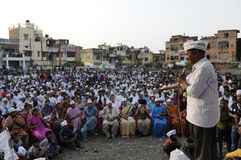 Arvind Kejriwal  during a political rally. Stock Images