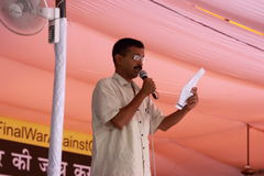 Arvind Kejriwal (Popular social activist in India) Royalty Free Stock Photo