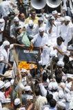 Arvind Kejriwal prowadzi kampanię dla Dr Kumar Vishwas Zdjęcia Stock