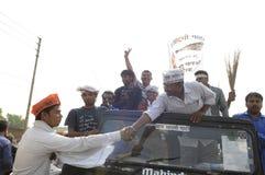 Arvind Kejriwal shaking hands. Royalty Free Stock Photos