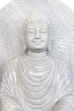 Arving buddha från marmor Arkivfoto