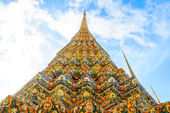 Arvpagod i Thailand Arkivbild
