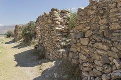 Arwaturo -胡宁省-秘鲁的考古学遗骸 库存照片