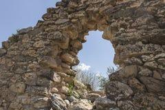 Arwaturo -胡宁省-秘鲁的考古学遗骸 免版税库存照片