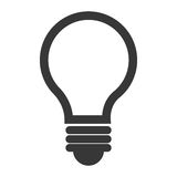 Żarówka lub dużego pomysłu odosobniona ikona Zdjęcia Stock