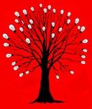 żarówki światła drzewo Fotografia Royalty Free